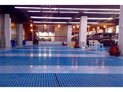 玻璃钢格栅板的承重能力得到洗车行业认可