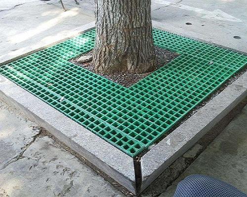 玻璃钢树篦子用于绿化树木
