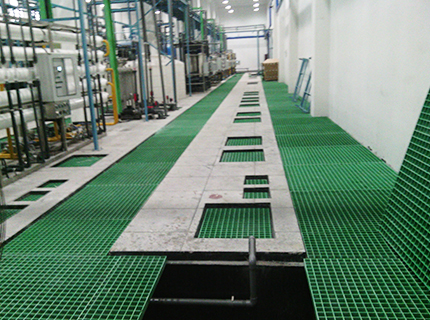 化工厂玻璃钢格栅平台应用案例